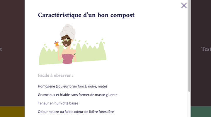Capture d'écran du mini-site bon compost